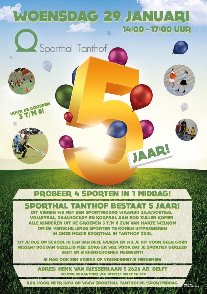 Poster sporthal Tanthof 5 jaar